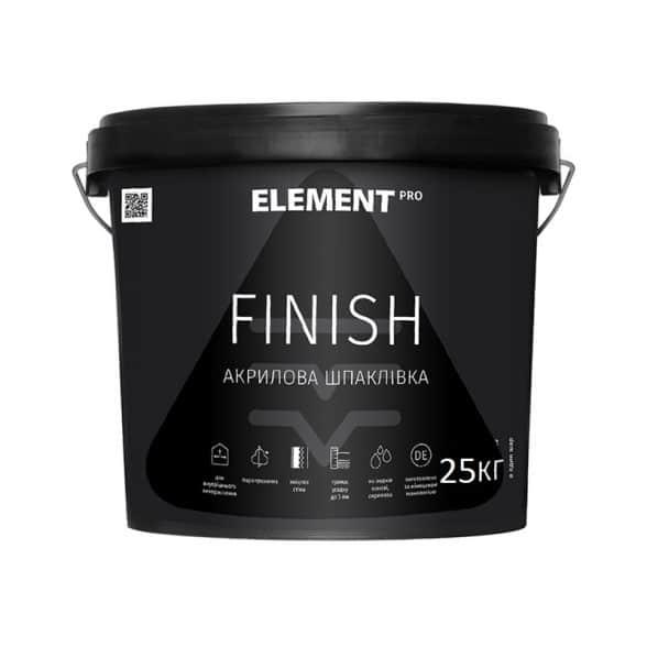 Готова до використання біла фінішна шпаклівка Element PRO Finish 25 кг