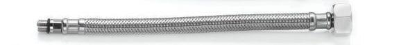 Шланг д/змішувача Н1/2″-М10-L37 короткий 0,6 м. нерж.TAQ GRIF