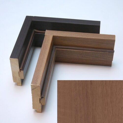 Дверний короб дерев'яний індив. ПВХ Делюкс 100*32 золота вільха (ущ.стійка)Т 40 (СКЛАД)