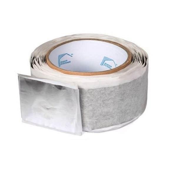Стрічка бітумна AQUA PROTECT ( FA-алюміній) 1.5 мм, 10 м*50 мм 62334