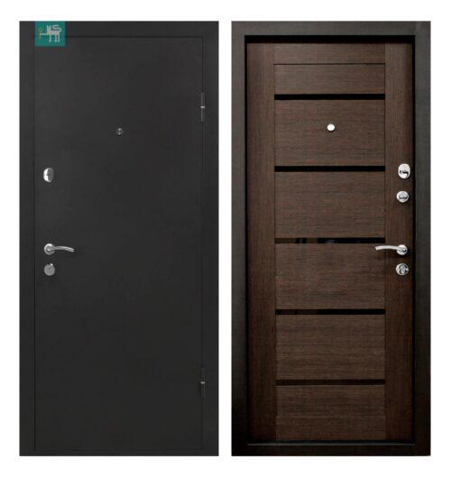 Вхідні двері ПУ-161 Царга венге 960*2050 права (СКЛАД)