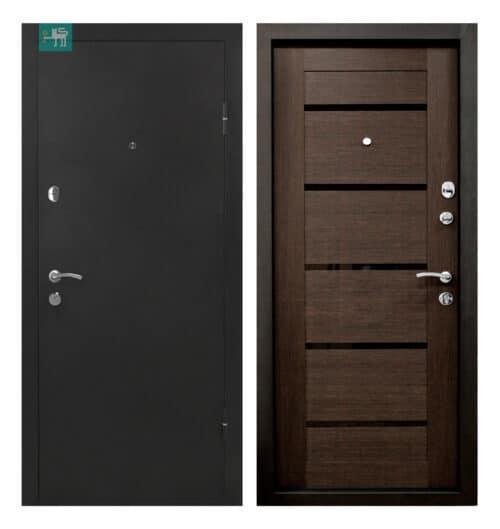 Вхідні двері ПУ-161 Царга венге 860*2050 права (СКЛАД)