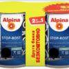 АКЦІЯ (набір 0,75 л + 0,75 л ) Емаль антикорозійна 3 в1 Alpina Stop-Rost шовк- мат RAL 9005 ( чорна )