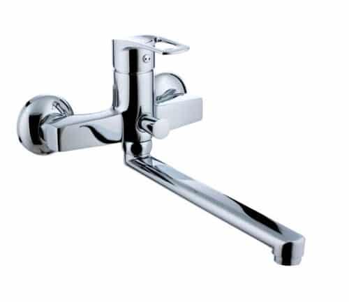 LIDICE Змішувач для ванни,L- вилив 23 см., хром,35 мм