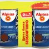 АКЦІЯ (набір 2,5 л + 2,5 л ) Емаль антикорозійна 3 в1 Alpina Stop-Rost шовк- мат RAL 8017 ( темно-коричнева )