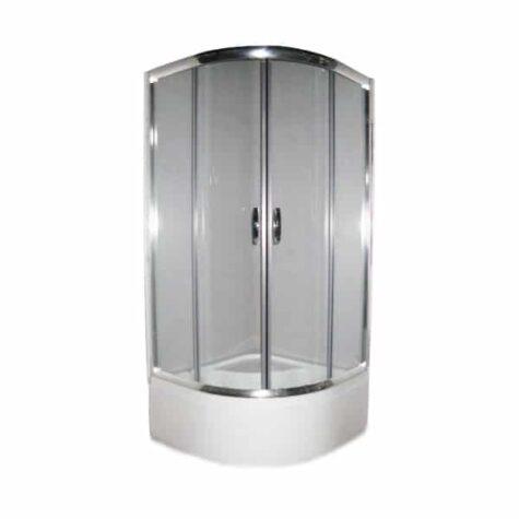 Душова кабіна DEVIT Nymfa FEN311DEV 90*90*215 1/4 кола, скло прозоре, з глибоким піддоном 40 см